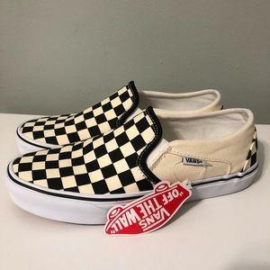 NWT Checkered Vans Slip On 8